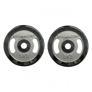 Finnlo FINNLO Gewichtsscheiben 2x 5 kg, chrom chrom