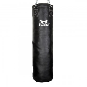 HAMMER BOXING Punching Bag Leather Premium