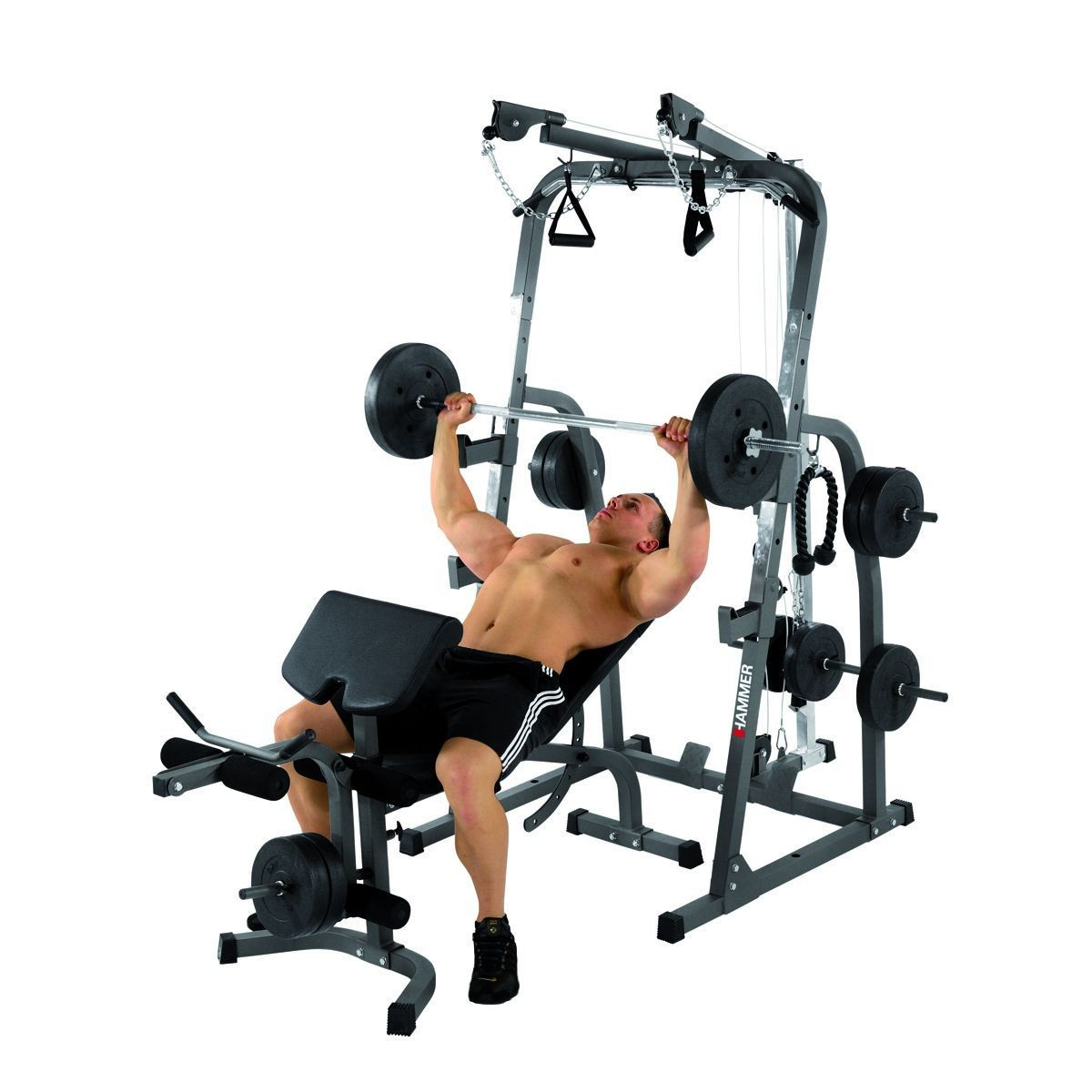 Hammer Weight Bench Solid Xp With 76 Kg Dumbbell Set 216 30 Mm