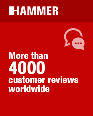 HAMMER - more than 4000 customer reviews worldwide