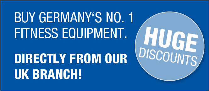 Buy Germany's No.1 fitness equipment directly from our UK branch