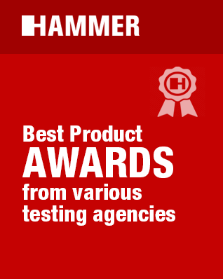 HAMMER - best product awards from various testing agencies